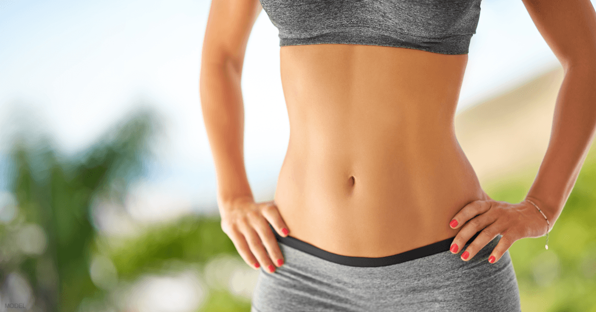 A woman's stomach following SculpSure treatments.